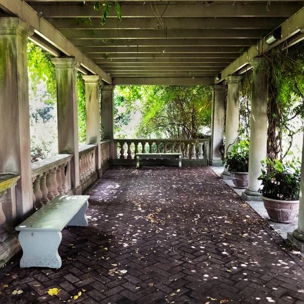 In George Eastman's gardens